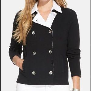 Ralph Lauren Womens Plus 2X Black Double Breasted